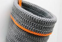 Virkkaus: Korit / Crochet: Baskets
