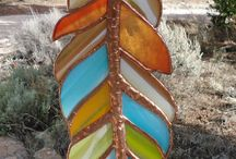 staind glass feathers.