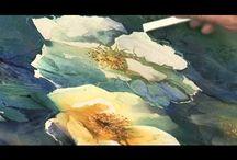 akvarell és watercolor pencil