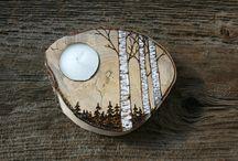 Cuore pantografato / pantografo su legno