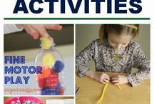 Fine Motor Skills / Some useful ideas to develop fine motor skills.