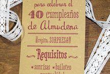 Ideas 40 Cumpleaños