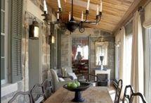 Enclosed Porch Ideas / Porch space organization and ideas