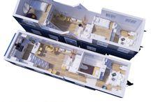 Case mici Spatii mici Idei / Small houses Small Spaces Ideas