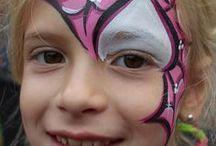 Superhero face painting