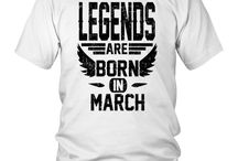 Legends born in march