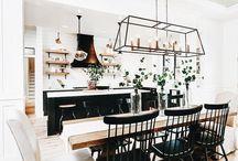 Dining Room Design / Ideas for a farmhouse dining room.