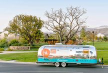 Great Park Sharestream Public Art / RSM Design teamed up with 5 Points Community and Strada Advertising to develop a look for the Sharestream a mobile airstream that is being used as a tool in the Great Park Neighborhood Marketing and sales team. The Sharestream is a piece of traveling art with classic graphics and homage to the vintage icon.
