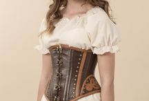 Leather corsets / Sewing tutorials on leather corsets: steampunk, gothic and more.