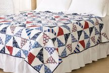 Quilts / quilts blankets patchwork quilt ocean nautical floral sea shells paisley solid colors modern contemporary traditional classic quilts shams bedding