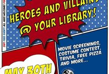 Super Epic Summer Reading Kick-off / Heroes and Villains are the theme at the Erlanger branch. The kick-off is Friday May 30th from 1-9pm, but we're gearing up now!
