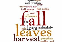 My favourite season / I love all things fall/autumn. The colour of the leaves, Halloween, the smell of nutmeg...such nostalgia.