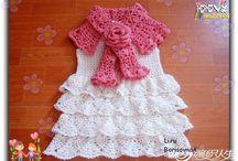 vestidos tejidos a crochet