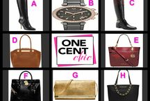 ITS ALL ABOUT MICHAEL KORS / Special Auction Tonight Thursday Feb 20 at 10 PM ET Register, Buy Bids and Win One of these AMAZING Items for Pennies OneCentChic.com