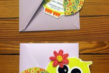 Icey owl invitations