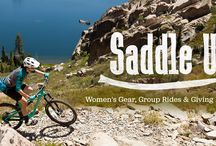 Saddle Up / There's something about riding a bike that makes you feel like a kid again. It's freeing, invigorating, challenging, and just plain fun. It can also be scary and hard, whether you're trying out mountain biking for the first time, or have been riding for years.  As women in the bike world, we embrace all of these realities and are excited to help other women progress in their riding and participate in the biking community. / by evo - Ski, Snowboard, Skateboard, Clothing