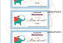 Place Card -uri de Botez / Place Carduri / Plicuri de bani, Meniuri, Numere de Masa pentru Botez