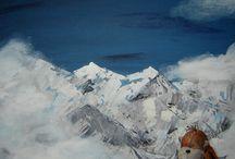 opička / acrylic painting