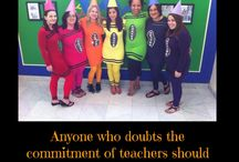 Teacher Halloween Costumes / Pictures and ideas for easy and appropriate costumes that teachers can wear to school for Halloween.  Many different ideas for educators of all types to wear during classroom Halloween celebrations.