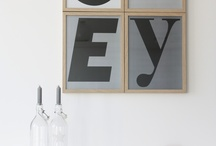 INTERIORS | Typography compositions