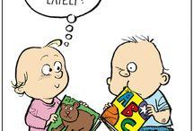 Little kids reading