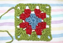 crochet - granny squares made using these patterns