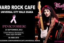 KATYA - HARD ROCK CAFE UNIVERSAL CITY WALK OSAKA / by Katya OF Katyamusic.com