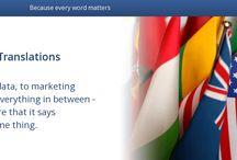 Translation Service Descriptions / Short slogans about translation services