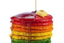 Rainbow Food / I love rainbows. I love food. Match made in heaven.