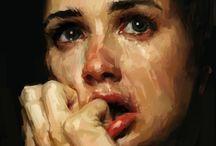 Portrait / Mes œuvres à l'huile