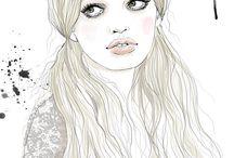 illuStRation / desenhos e ilustrações, inspirações de moda ou desenhos livres.