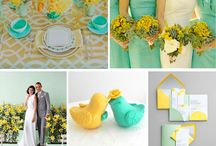 WEDDING | mint green & yellow