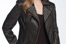 Womens studded leather jackets