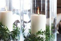 Inredning, ljus, grönska, blommor