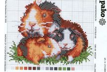 Cross Stitch-Guinea Pigs and Hamsters.