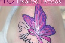 Cancer Ribbon Tattoos