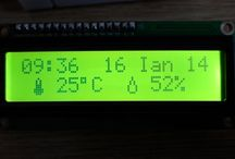 Clock with thermometer using Arduino, i2c 16x2 lcd, DS1307 RTC and DHT11 sensor.