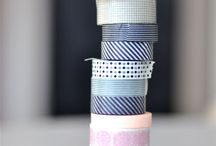 Tape and gift wrapping paper
