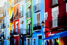 Colors / Colorful architecture from Villajoyosa, Spain.