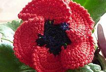 Crochet flowers. / Detail