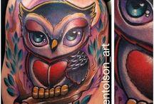 Tatuaggi gufi
