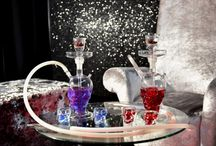 Shisha Photoshoot / Our bespoke handmade glass shishas for shisha hire