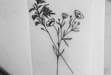 Tatuering blomster