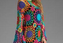 vestidos de croche e tricot