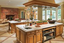 Kitchen / Inspiration for kitchens. Farmhouse style, modern, big and small.  I want to cook in them all!