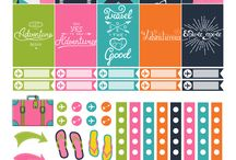 Travel printables / stickers