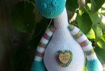 Soft crochet toys