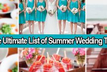 The Ultimate List of Summer Wedding Tips / This guide will offer you a few tips for every summer wedding concern so you are prepared for just about anything.  http://www.kimberleyandkev.com/the-ultimate-list-of-summer-wedding-tips/