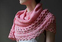 Knitting shawl, scarf