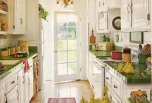 Green and Earthy Kitchens & Bathrooms for St. Patty's Day!
